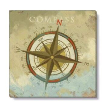 Bayport Gygi Stretched Canvas Wall Art Print COMPASS Small