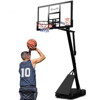 Everfit Pro Portable Basketball Stand System Ring Hoop Net Height Adjustable 3.05M