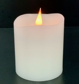 """4"""" White 3D Flickering Flame LED Candle"""