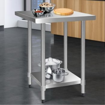 Cefito 760x760mm Stainless Steel Kitchen Benches Work Bench Food Prep Table 430 Food Grade Stainless Steel