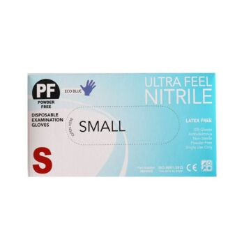 Disposable Nitrile Exam Gloves Blue (100 pack) - Small