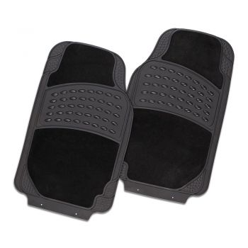 Colossus 2-Piece Car Mat - Black [Rubber/Carpet]