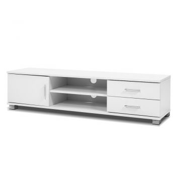 TV Cabinet Entertainment Unit Stand Storage Drawers Shelf 120cm White