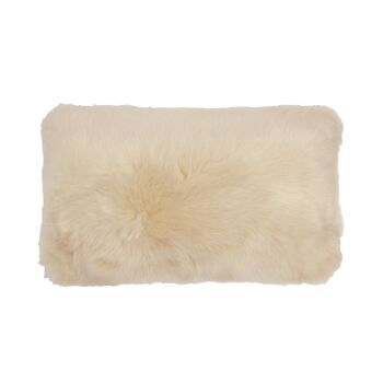 Faux Fur Cushion 30x50cm Nougat