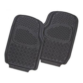 Velocity 2-Piece Car Mat - Black [Rubber]