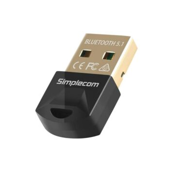 Simplecom NB410 USB Bluetooth 5.1 Mini Adapter Receiver Wireless Dongle for Laptop PC