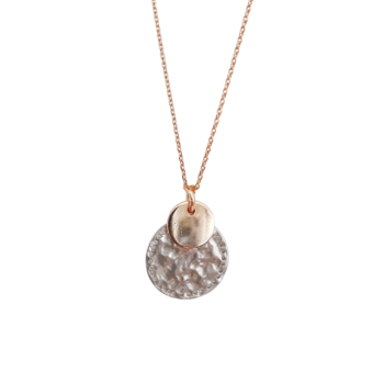 Havana Textured Silver & Rose Gold Necklace