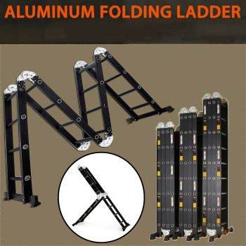 8M Multi Purpose Aluminium Folding Extension Ladder Step Scaffold
