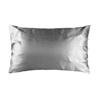 Std Satin Pillowcase 48cm x 73cm Silver