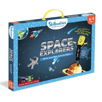 Skillmatics Space Explorers - Teach Kids About Space - Write & Wipe Educational Games For Children