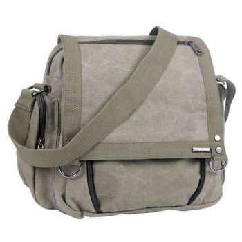 Army Small Canvas Messenger