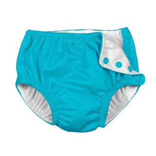 Snap Reusable Absorbent Swimsuit Diaper-Aqua