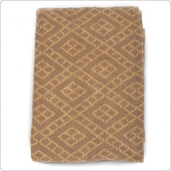Luxury Cotton Throw 127x154cm Brown brick