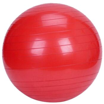 Yoga Ball with Pump for Pilates Gym Home Exercise & Rehab 65cm Red