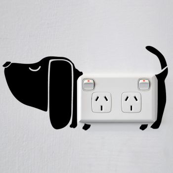 Dog Wall Sticker for Sockets