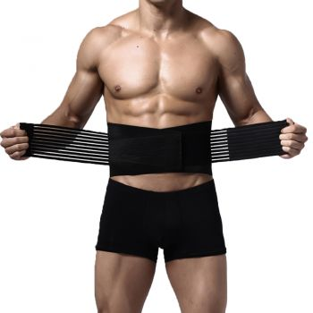 Lumbar and Back Support Belt Brace Strap Pain Relief Posture Waist Trimmer L