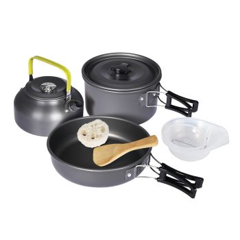 10 Pcs Camping Cookware Set for Hiking Camping and Portable Picnic