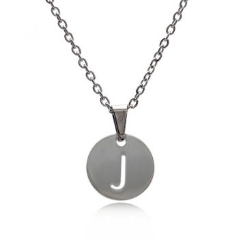 Personalized Stainless Steel Initial Letter Charm Pendant Necklace
