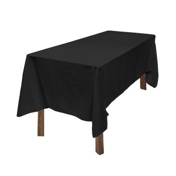 Fitted Wedding Tablecloth for Events in Black