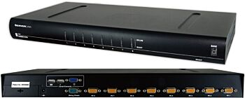 ServerLink 8 Port KVM Switch VGA, USB, PS/2 Optional IP Access SL-0801H