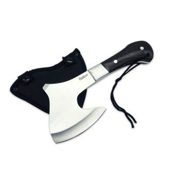 Bushlands Hunting Survival Axe - Solid Wooden Handle 6Mm Thickness Blade #718
