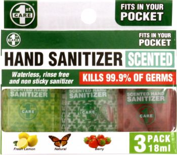 Hand Sanitizer 18ml 3pk