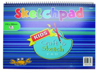 A4 Spiral Sketchpad 60pg