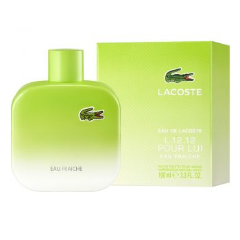 L.12.12. Pour Lui Eau Fraiche by LACOSTE for Men (100ml) Eau de Toilette-BOTTLE