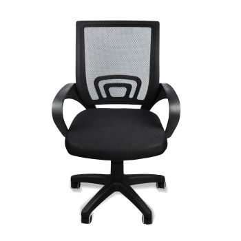 Office Ergonomic Mesh Computer Gaming Chair with Wheels in Black
