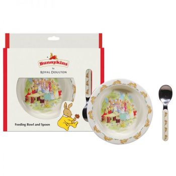 Bunnykins Feeding Bowl & Spoon - Running