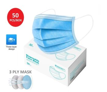 50 PCS Disposable Face Mask 3 Ply Daily Protective Mouth Filter Layer Masks (50pcs/pack)