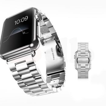 Replacement Stainless Steel Strap Band Clasp for Apple Watch Sport Silver
