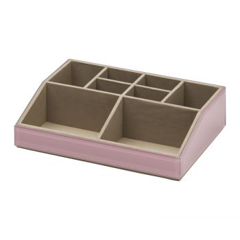 Stackable Cosmetics Caddy - Dusty Rose