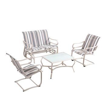 Outdoor Patio Table and Chairs Lounge Set
