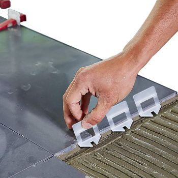 800x 1MM Tile Leveling System Clips Space Saving Tiling Tool