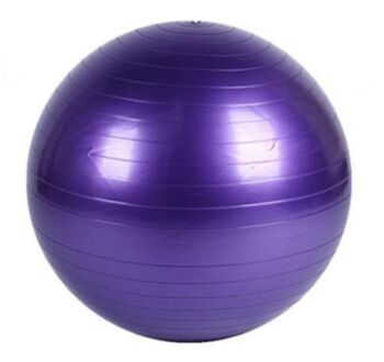 Yoga Ball with Pump for Pilates Gym Home Exercise & Rehab 75cm Purple