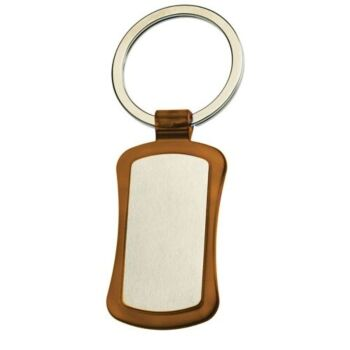 Duo Key Tag Key Ring Keyring School Bag Badge - Mocha