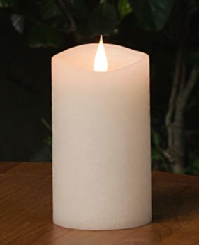 """5"""" White 3D Flickering Flame LED Candle"""