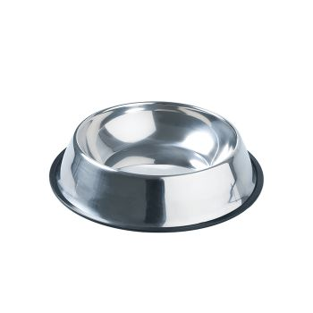 PaWz Pet Bowl Stainless Steel Water Bowls Portable Non Tip Slip Feeder Dog Cat L