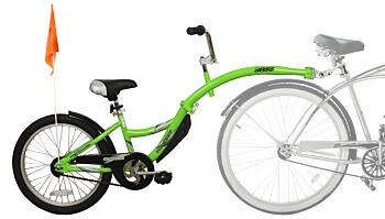 WeeRide Tag-a-long - Green - Kid Child Rear Attachment Half Wheeler Trailer Bike Cycle Tagalong
