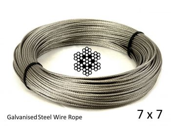 1.5mm 7x7 G2070 Galvanised Steel Wire Rope