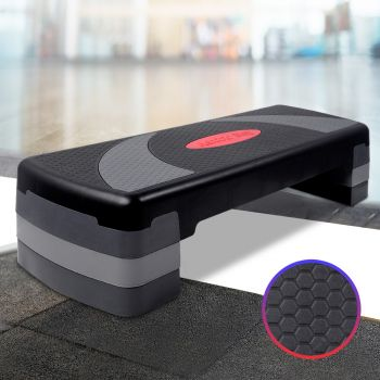 Everfit Aerobic Exercise Step Stepper Gym Workout Fitness 4 Block Risers Level