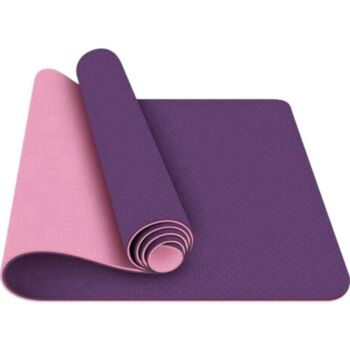 TPE Eco-Friendly Yoga Mat Dual Layer Non-Slip for Pilates Fitness & Exercise - Violet