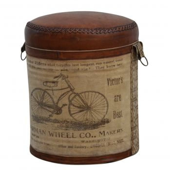 Cyclindrical Bicycle Ottoman