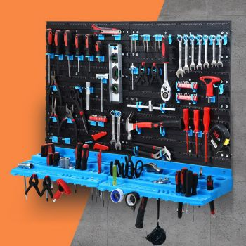 Giantz 54 Parts Wall Mounted Rack Storage Tools Bin Organiser Work Bench Garage