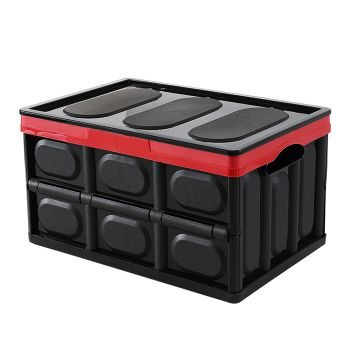 Collapsible Foldable Car Boot Organiser in Black