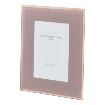 6 x 4 Dusty Rose Glass Photo Frame
