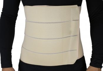ObboMed 4-Panel Abdominal Binder hernia support belt after surgery, Belly Wrap Brace,Trimming Waist