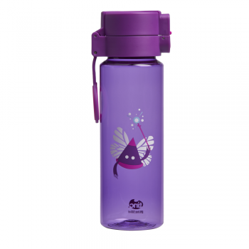 Purple Flip and Clip Water Bottle