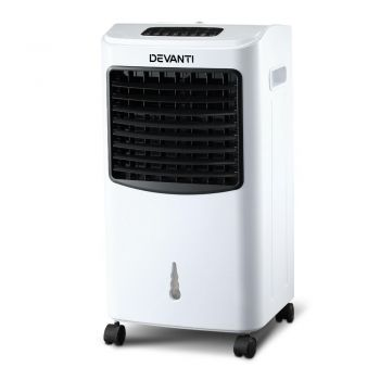 Devanti 8.5L Evaporative Air Cooler w/Reomote Control Portable Fan Water Cool Mist Conditioner Humidifier White